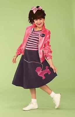 NIFTY FIFTIES GIRL'S HALLOWEEN COSTUME SOCK HOP POODLE SKIRT JACKET LARGE - Fifties Girl Kostüm
