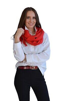 Schal  aus Kaschmirmischung Rot mit Fransen  Rot Mit Fransen