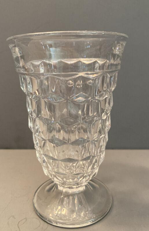 Vintage Fostoria American Clear Footed Ice Tea Glass 12 oz