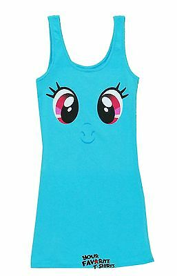 My Little Pony Rainbow Dash Big Face Dash Cute Tunic Tank Dress