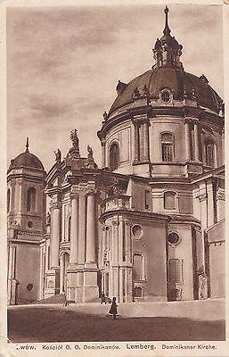 AK-Lemberg-Ukraine-Dominikaner Kirche-gelaufen 1917-Feldpostkarte