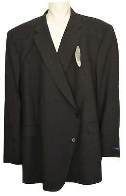 Neu Hickey von Freeman Wolle Sport Mantel Herren Größe 70R - Dunkelgrau B1356 ()