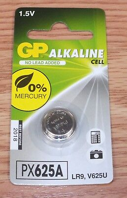 Genuine GP Alkaline Cell (PX625A) 1.5 Volt LR9, V625U Replacement Battery **NEW* 1.5v Watch Replacement Battery