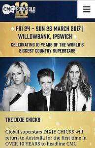 2 x 3 Day CMC Rocks tickets Paddington Brisbane North West Preview