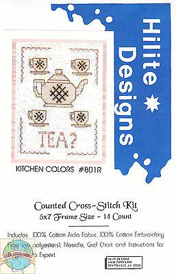 Cross Stitch Kit ~ Kitchen Colors - Tea? #HD801R OOP SALE!