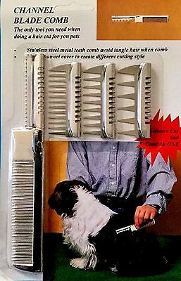 PET GROOMING TEXTURIZING COMB & RAZOR IN ONE WITH FOUR ATTACHMENTS (Grooming Razor)