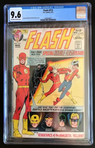 Flash 213 CGC 9.6 OW/W Pages 1972 New Case
