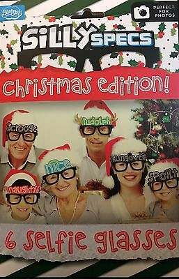 Silly Specs Christmas Edition 6 Selfie Glasses Photo Props Fun Game Photo Booth  (Silly Photo Booth Props)