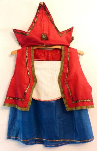 VINTAGE 1930s-40s Handmade PRINCESS Child HALLOWEEN COSTUME Crown METALLIC TRIM