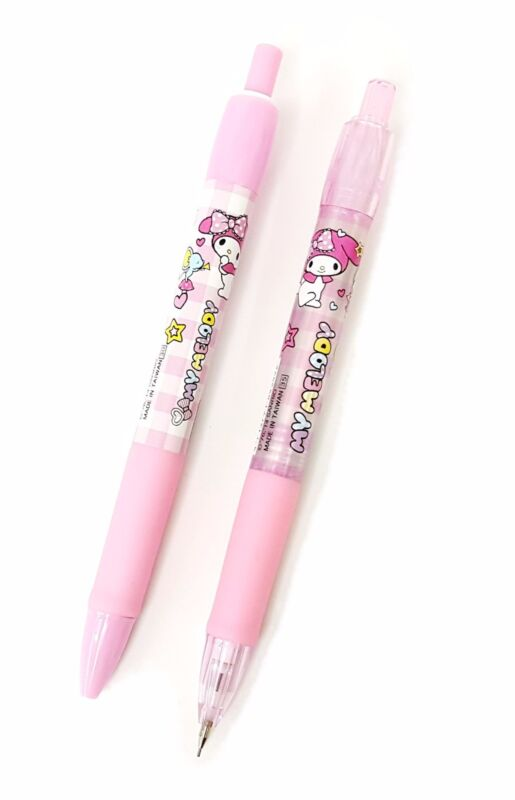 Sanrio My Melody 0.5mm Mechanical Pencil + Ballpoint Pen Blue Made in Taiwan