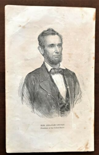 Original 1868 Civil War Print ~ President  ABRAHAM LINCOLN Portrait ~ Very Rare