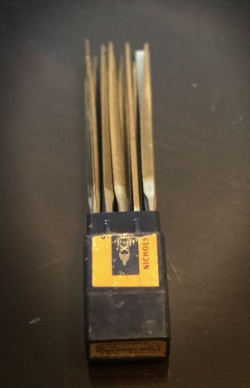 "Nicholson 6 1/4"" Round Hand Needle File Set Cut 0"
