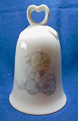 "Precious Moments Bride and Groom Wedding Bell (4.25"" H X 3"" Dia.) NEW (#62)"