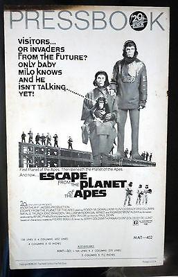 ESCAPE FROM THE PLANET OF THE APES press book 1971