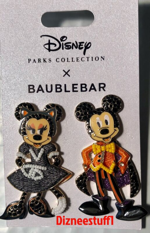 Disney Parks Baublebar Mickey Minnie Halloween Costume Post Earrings 2021 - NEW