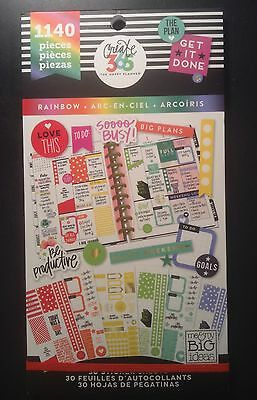 """NEW! me & my big ideas create 365 """"RAINBOW"""" Classic Size Pack Stickers"""