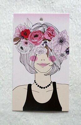 250 Hang Tags Accessories Tags Pink Flowers Tags Clothing Tags Handbag Tags
