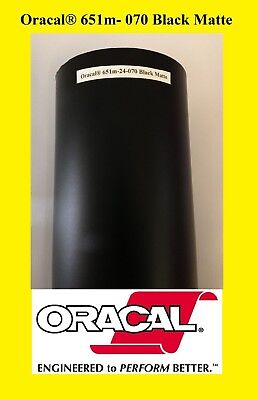 24 X 50 Yards Roll Black Matte Oracal 651 Vinyl Adhesive Plotter Sign 070