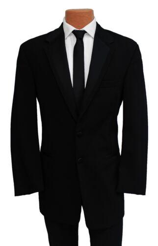40S Perry Ellis Black Fashion Tuxedo Jacket & Pant Suit for Prom Formal Wedding