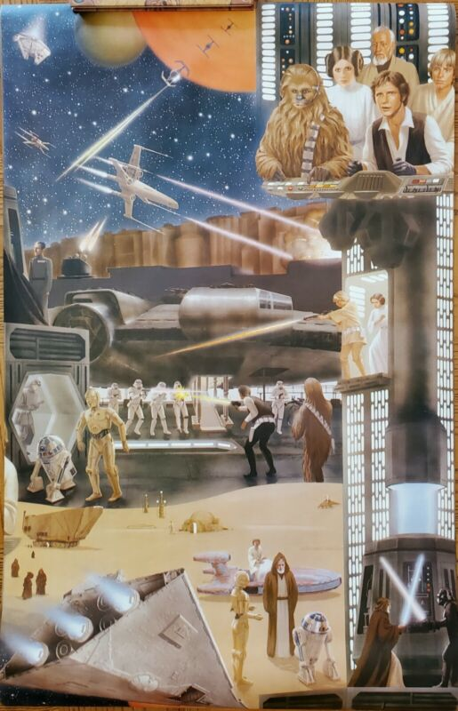 Star Wars Vintage Wallpaper Poster Canvas Collectible 1978 A New Hope poster