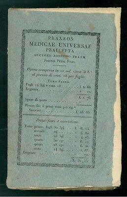 FRANK JOSEPHO PRAXEOS MEDICAE UNIVERSAE PRAECEPTA SYSTEMATI NERVOSI BALBINI 1822