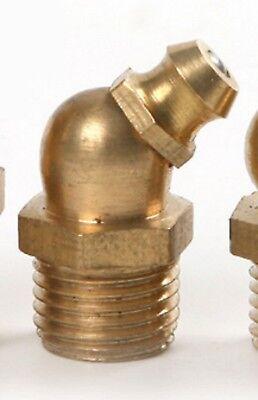 5PCS M10 10mm Thread 45 Degree Brass Angle Grease Nipples Gun for grease Guns