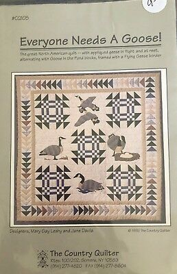 Everyone Needs a Goose Bird Applique Quilt PATTERN ONLY The Country Quilter