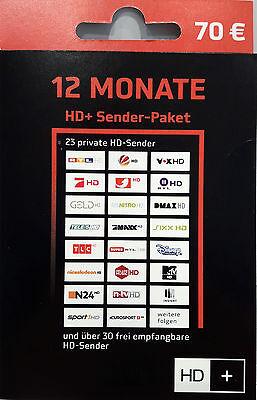 HD Plus VERLÄNGERUNG Pin Code 12 Monate SAT HDTV HD+ Versand per Email