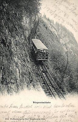 1016/ Foto AK, Bürgenstockbahn, ca. 1910