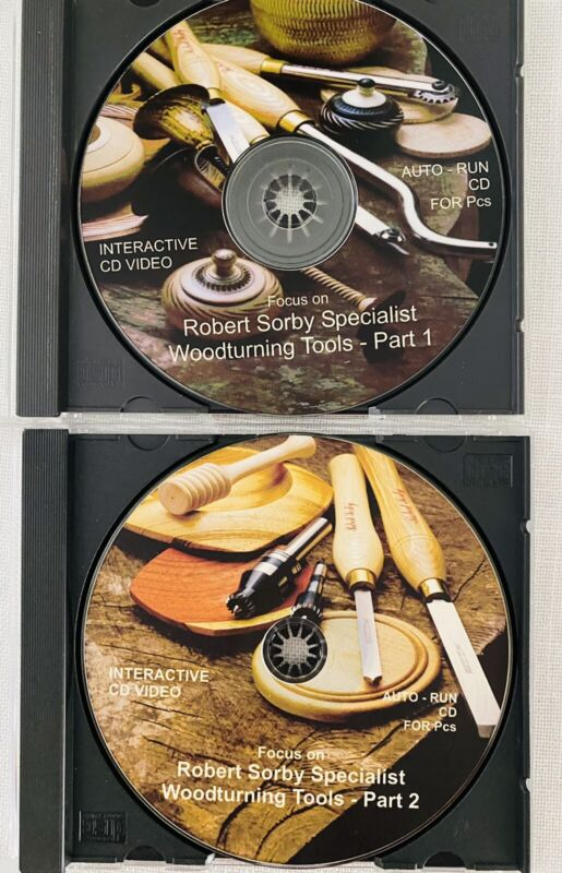 Focus on ROBERT SORBY Specialist Woodturning Tools 1 & 2 Interactive CD Videos