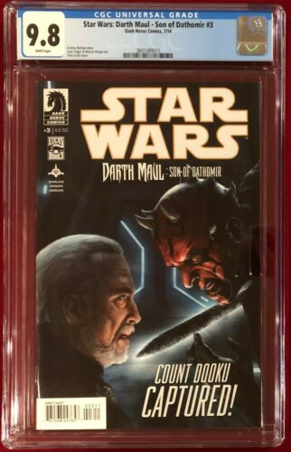 Star Wars Darth Maul Son of Dathomir #3 CGC 9.8 NMMT July 2014