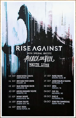RISE AGAINST | PIERCE THE VEIL Wolves Tour 2017 Ltd Ed RARE Poster +FREE Poster!