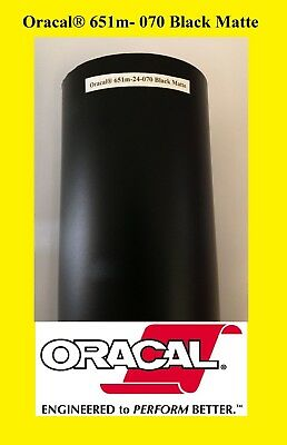 24 X 10 Ft Roll Black Matte Oracal 651 Vinyl Adhesive Cutter Plotter Sign 070
