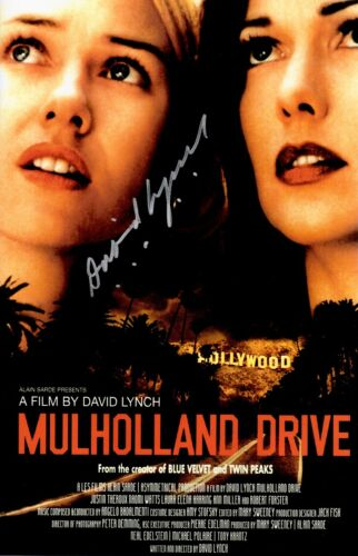 David Lynch Signed Mulholland Drive 11x17 Movie Poster COA