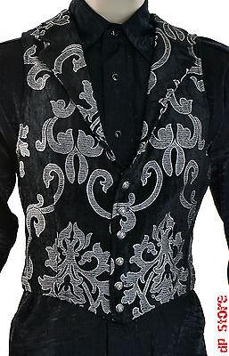 SHRINE GOTHIC ARISTOCRAT VAMPIRE VEST JACKET VICTORIAN BROCADE PIRAT STEAMPUNK Clothing, Shoes & Accessories
