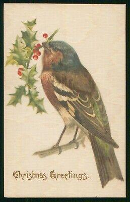 Mayfairstamps Christmas Greetings Bird Postcard wwp2455