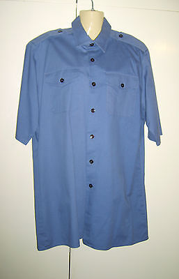 Men's Grey Military RAF Pilot Shirt Work Uniform Fancy Dress Costume M/L - Raf Pilot Kostüm