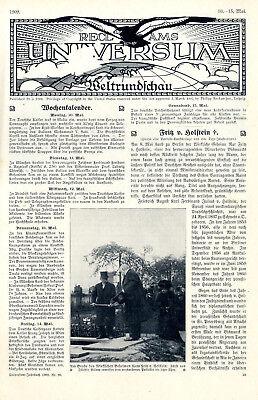 Fürstenpaar von Bülow am Grabe des Politikers Fritz von Holstein von 1909