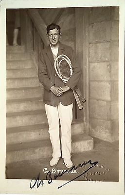 Christian Boussus 1929 32 French Davis Cup Player Vintage Signed Tennis Postcard