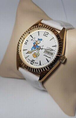 Citizen 8200 Automatic Vintage Golden Case Donald Duck Dial Men's Wrist Watch