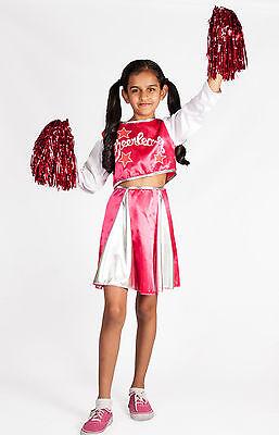 Toddler Cheerleader Costume (Cheerleader Costume  Girls  Pink with Pom Poms Halloween Size Toddler)