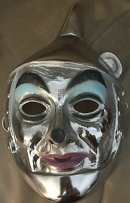 Wizard Of Oz Tin Man Costumes (Wizard Of Oz Child Kids Adult Tin Man Light Weight Plastic Costume Mask)