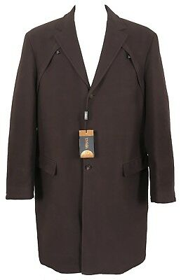 NEW Vintage Gianni Versace Gothic Style Overcoat!  e 54 US 44  (Large)   Brown