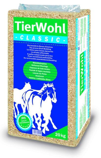 TierWohl Classic 500 Liter Pferdeeinstreu Einstreu Kleintier Boxenstreu 20 Kg