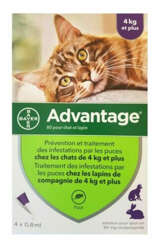 Advantage purple 4 packs for cats over 9 pounds