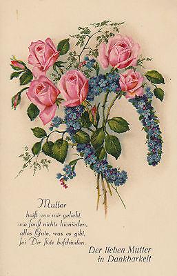Postkarte - Der lieben Mutter in Dankbarkeit
