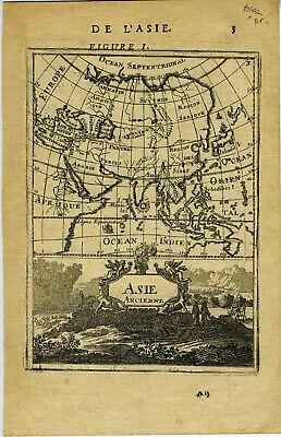 1683 Genuine Antique maps (2) Ancient & Modern Asia. A M Mallet