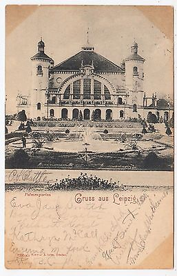 GRUSS AUS LEIPZIG - Germany - Palmengarten Pavilion - 1900 used postcard