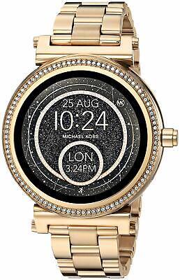 Michael Kors Woman's MKT5021 Sofie Gold-tone Touchscreen Smartwatch
