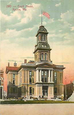 Wisconsin, WI, Racine, Court House 1910 Postcard for sale  Shipping to Canada